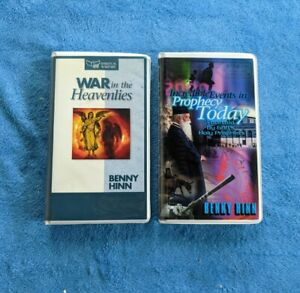 BENNY HINN 2 Cassette Tape Audiobooks War In The Heavenlies Prophecy Today