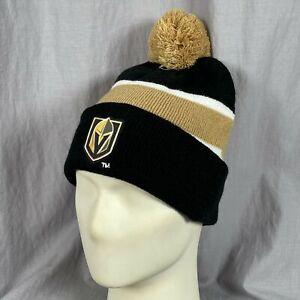 Las Vegas Golden Knights Station Casinos Pom One Size Winter Hat Hockey NHL
