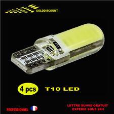 4 t10 led w5w cob Blanc  6000k xenon silicone anti erreur 12v voiture-moto