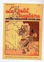 Carte Postale Tintin. Le Petit Vingtième n°1. 4 janvier 1940. Pays de l'or noir.