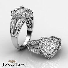 Beautiful Heart Diamond Engagement Bridal Ring EGL G SI1 14k White Gold 1.72 ct
