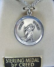 SAINT ISAIAH FIRST HOLY COMMUNION CONFIRMATION STERLING SILVER MEDAL BY CREED