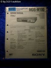 Sony Service Manual MDS M100 Mini Disc Deck  (#6312)