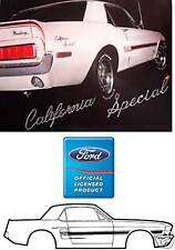 1968 MUSTANG GT CALIFORNIA SPECIAL STRIPE KIT  LICENSED BY FORD