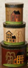 Country Farmhouse Saltbox Willow Stacking Nesting Boxes