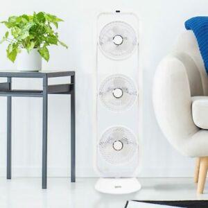 Igenix DF0050 Oscillating Tower Air Circulator Fan - White, 2 YEAR WARRANTY!!!