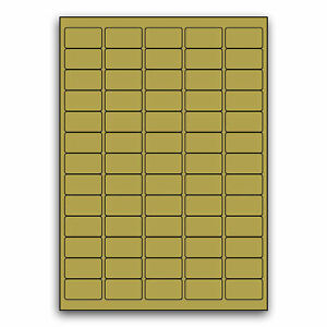 Blank Self Adhesive Labels ~ Gold ~ L7651 ~ 65 Labels per A4 Sheet
