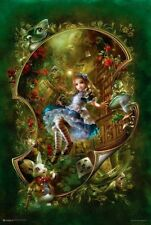 ALICE IN WONDERLAND - FANTASY POSTER - 24x36 BOOK ART 10465