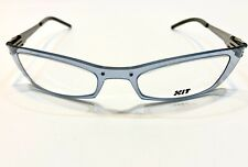 X.I.T Eyeglass Frame Luxury France Clear Blue Modern N056 008 53 20 130 W/Case