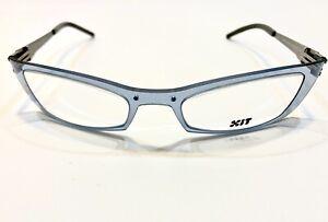 X.I.T Eyeglass Frame Luxury France Clear Blue Modern N056 008 58 20 130 W/Case !