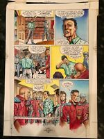 Hard Corps 13 Page 21 Watercolor Art Page With Word Overlay December 93 Valiant