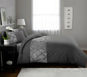 Luxury Bedding Sets Silver Grey Duvet Cover 100%Egyptian Cotton Double King Size