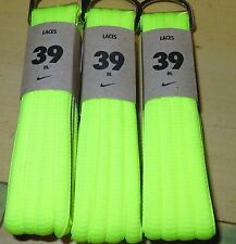 "NIKE 39"" OVAL SHOELACES VOLT 1 PAIR NEW NEON BRIGHT YELLOW FOR SNEAKERS LACES"