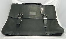 ROMANO Black Leather Briefcase New Unused with Tags