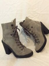 New Look Grey Ankle Suede Boots Size 7