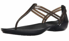 Flat (0 to 1/2 in.) T-Strap Synthetic Solid Sandals & Flip Flops for Women