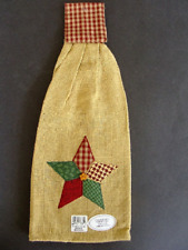 Appliqued PATCHWORK STAR Christmas Hanging Kitchen Towel by Park Designs