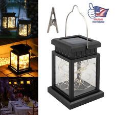 Solar Lantern Hanging Light LED Yard outdoor Patio Garden Waterproof Decor Lamp