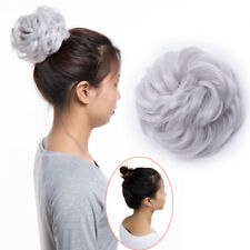 Real Natural Curly Messy Bun Hair Piece Scrunchie Hair Extensions for human FOC