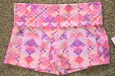 Aeropostale Fold-over Waist Pink Purple Yoga Shorts size XL
