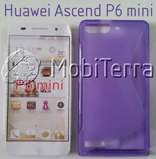TPU gel silicone case cover S-line purple violet for Huawei Ascend G6 P6 mini