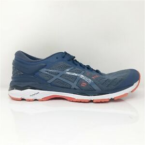 Asics Mens Gel Kayano 24 T749N Navy Blue Running Shoes Lace Up Low Top Size 11