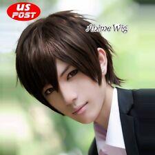 Ouran High School Host Club Haruhi Fujioka Anime Cosplay Short Brown Hair Wig