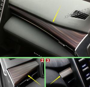 Peach Wood Grain Dashboard Center Console Cover Trim For Toyota Avalon 2019 2020