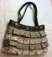 Thirty One 31 Brown Elite Interchangeable Skirt Purse Shoulder Bag Retired