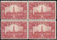 1927 Mint NH Canada F Block Scott #143 3c Confederation Anniversary Issue Stamps