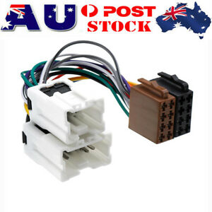 ISO Wiring Harness Adaptor Cable Lead Loom Plug For Nissan Navara D21 D22