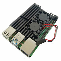 CNC Alloy Case Cover Enclosure Heatsink For Raspberry Pi 4 4B 4 B+ Cooling fan