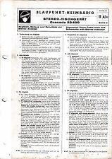 Service Manual-instrucciones para Blaupunkt Granada 23400