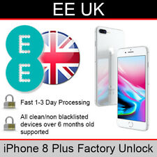 EE UK iPhone 8 Plus Factory Unlocking Service (FAST 1-3 WORKING DAY SERVICE)
