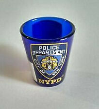 Vintage York Shot Glasses Police Dept Nypd Big Apple Twin Towers