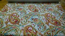 Morgan Fabrics Indira Persimmon Velvet Floral Upholstery Fabric BTY