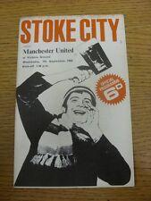 07/09/1966 Stoke City v Manchester United  (Light marking, Score Noted on Cover,
