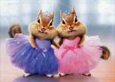 Chipmunk Ballerina's Thank You Greeting Card by Avanti 'You are tutu awesome!'
