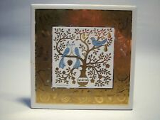 """Vintage """"On The Second Day Of Christmas"""" Holiday Ceramic Trivet Tile"""