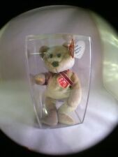 TY Beanie Baby 1999 SIGNATURE TEDDY Bear WITH ERRORS IN HANG TAG ,RARE , RETIRED