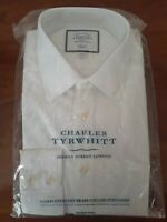 Charles Tyrwhitt Classic Fit White Dress Shirt Size 15.5-35 Non-Iron New In Bag