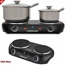 Double Burner Electric Portable CookTop 1800W Two-Burners Kitchen Cooking Stove