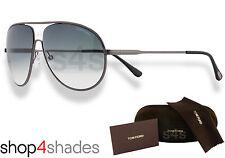 Tom Ford Cliff Aviator Unisex Sunglasses MATTE GUNMETAL_GRADUATED SMOKE 0450 09B