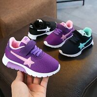 Children Kids Boys Girl Star Mesh Breathable Sport Casual Running Sneakers Shoes
