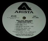 BAY CITY ROLLERS GREATEST HITS rare WHITE LABEL PROMO LP RECORD VINYL ARISTA