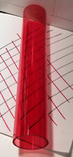 "2"" RED CLEAR ACRYLIC PLEXIGLASS LUCITE PLASTIC TUBE 72"" INCHES LONG"