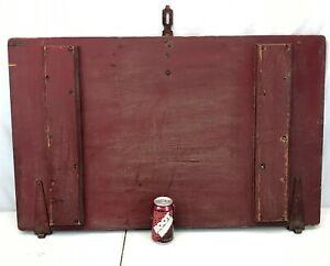 "Antique 22x36"" Pine TRUNK LID box top door Repair Wood board reclaimed salvage"