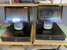 """4 Station, 15"""" All in One Touch Screen Pos System Restaurant/ Retail Point of"""