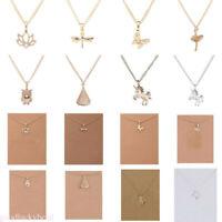 Chic Womans Charm Unicorn Pendant Chain Jewelry Choker Statement Bib Necklace