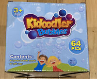 Kidoodler Bubbles 64 Packs Bubble Wands With 64 Gift Tags Non Toxic
